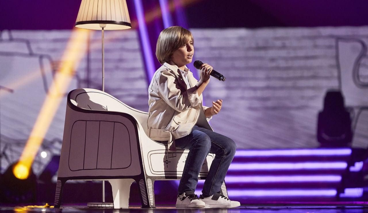 Jesús Montero canta 'No me doy por vencido' en la Semifinal de 'La Voz Kids'