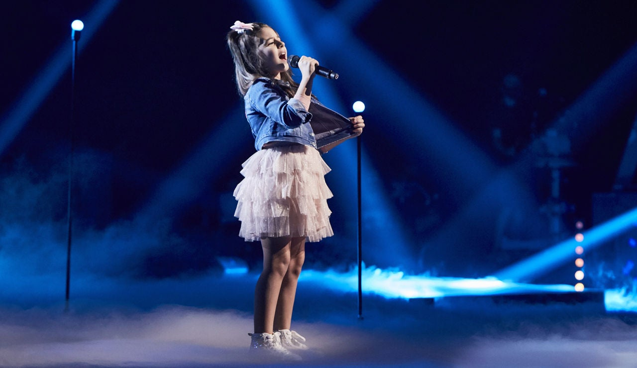 Nazaret Moreno canta 'Olvidé respirar' en la Semifinal de 'La Voz Kids'