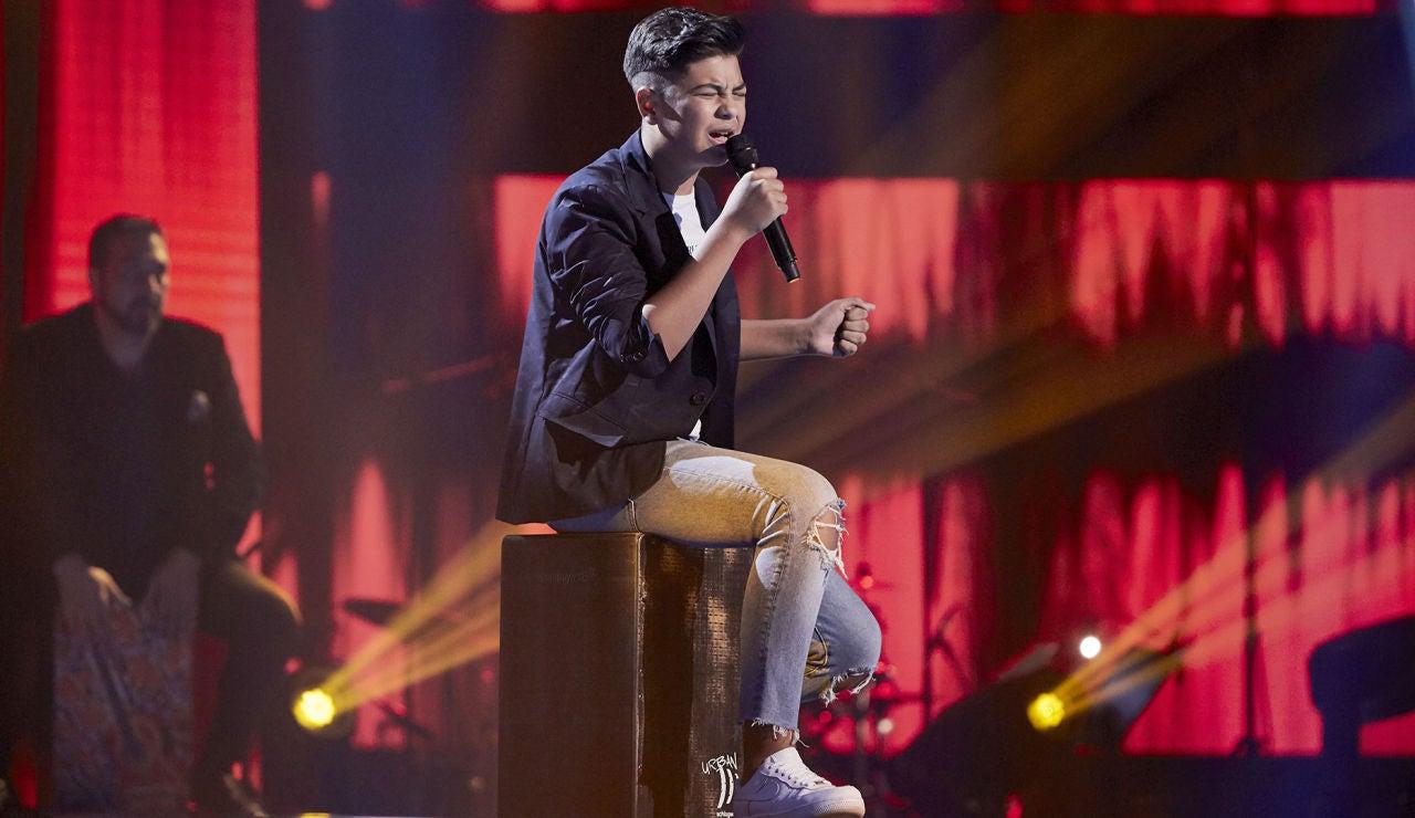 Dayron Jiménez canta 'Como el agua' en la Semifinal de 'La Voz Kids'
