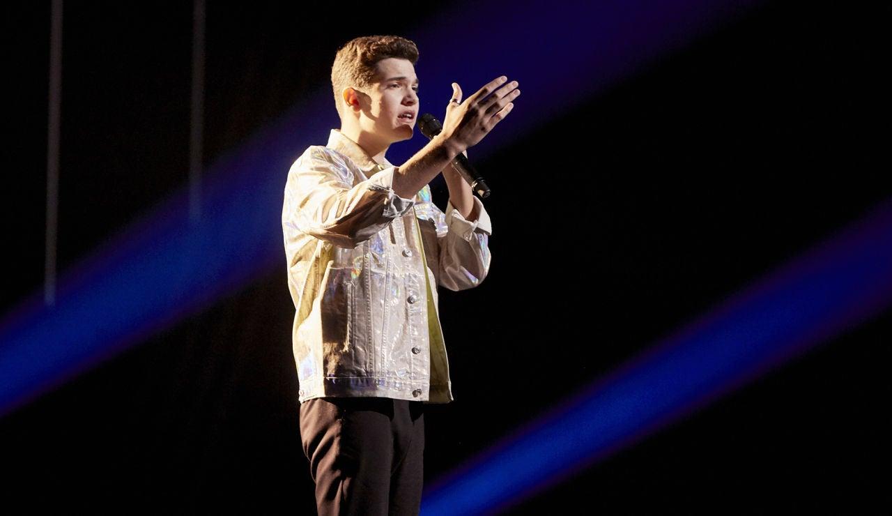 Javier Crespo canta 'When we were young' en la Semifinal de 'La Voz Kids'