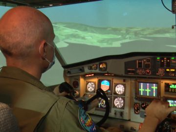 Simulador de vuelo antiincendio