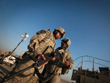 Soldados de la 3ª Brigada, 1ª División de Caballería del Ejército estadounidense en Irak