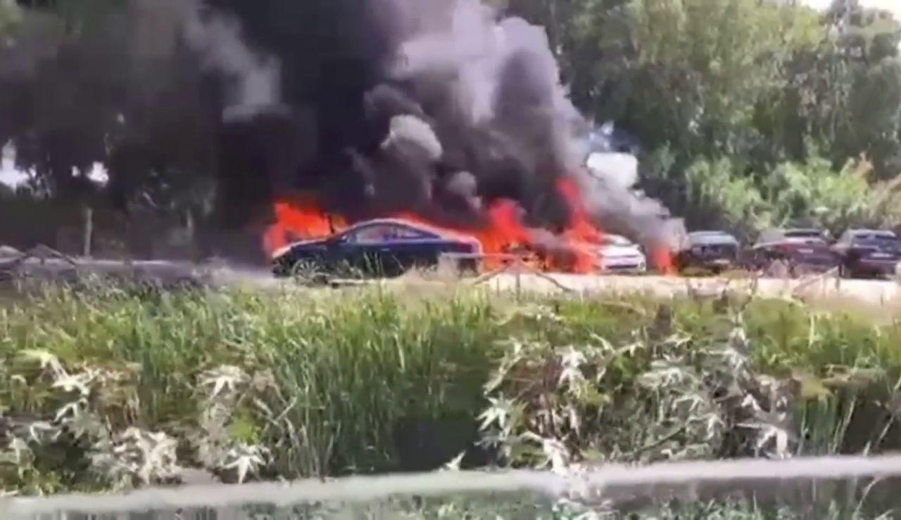 incendio chipiona coches