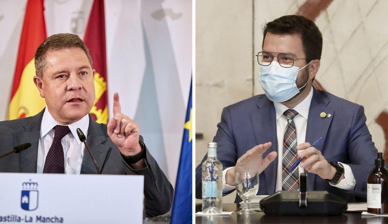 """García Page le pide a Aragonès que acuda a la conferencia de presidentes: """"Mejor Salamanca que Waterloo"""""""