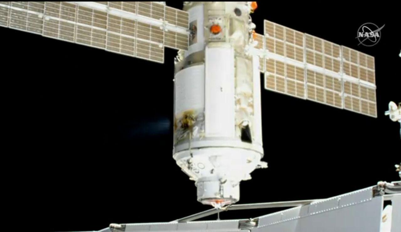 El laboratorio multiusos ruso Naúka llega a la Estación Espacial Internacional con éxito