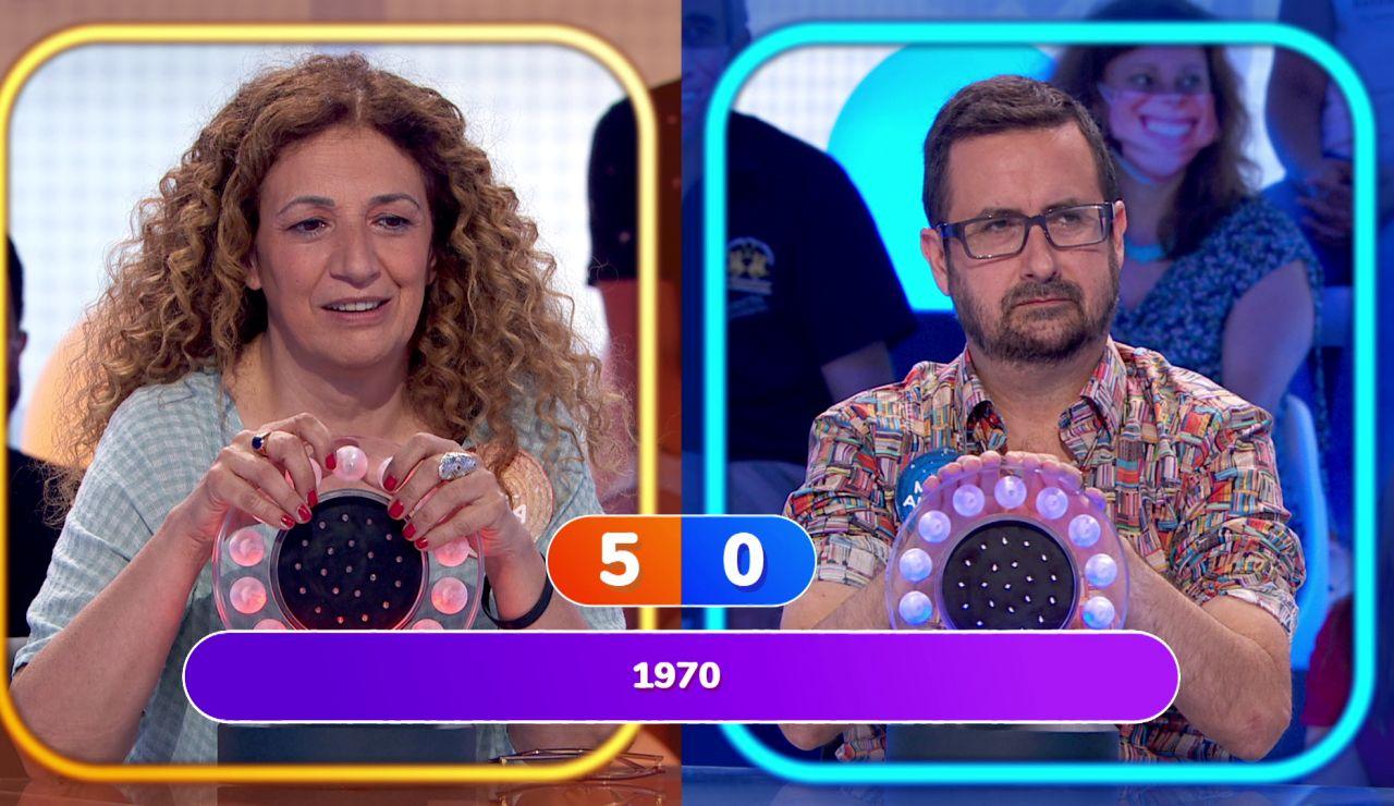 ¡El arte del tarareo! Sofía y Marco Antonio con muchas dificultades en 'La Pista'
