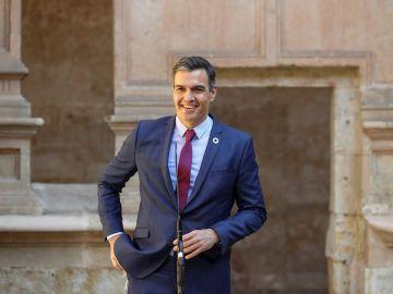 El presidente del Gobierno, Pedro Sánchez en su intervención previa a la XXIV Conferencia de Presidentes, el máximo órgano político de coordinación multilateral, que se celebra este viernes en el Convento de San Esteban, en Salamanca.