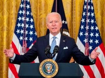 Joe Biden en una rueda de prensa en la Casa Blanca