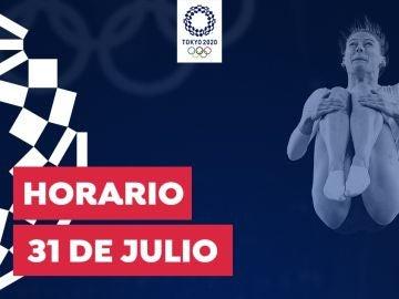 Horario y dónde ver las competiciones del sábado 31 de julio de los Juegos Olímpicos desde España