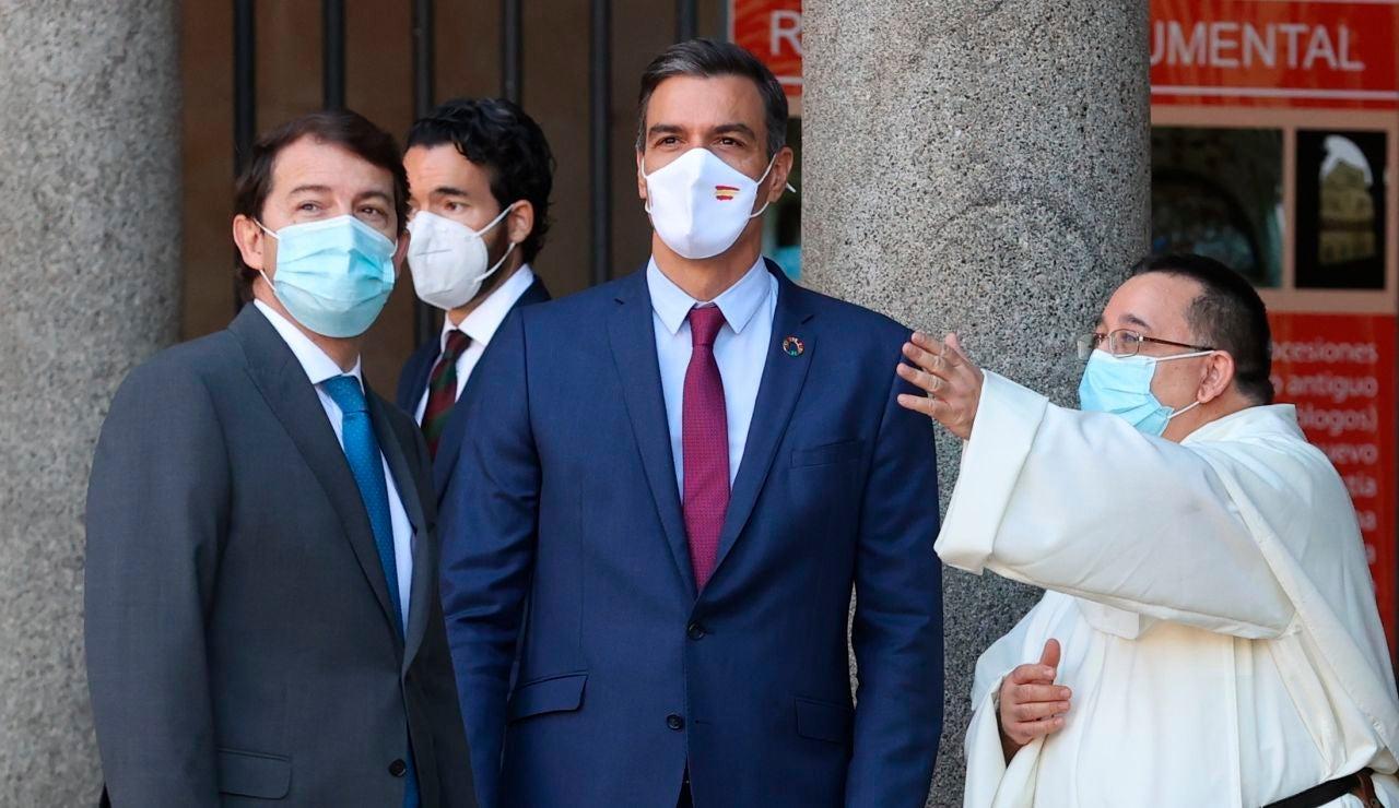 El presidente del Gobierno, Pedro Sánchez, durante la Conferencia de Presidentes en Salamanca