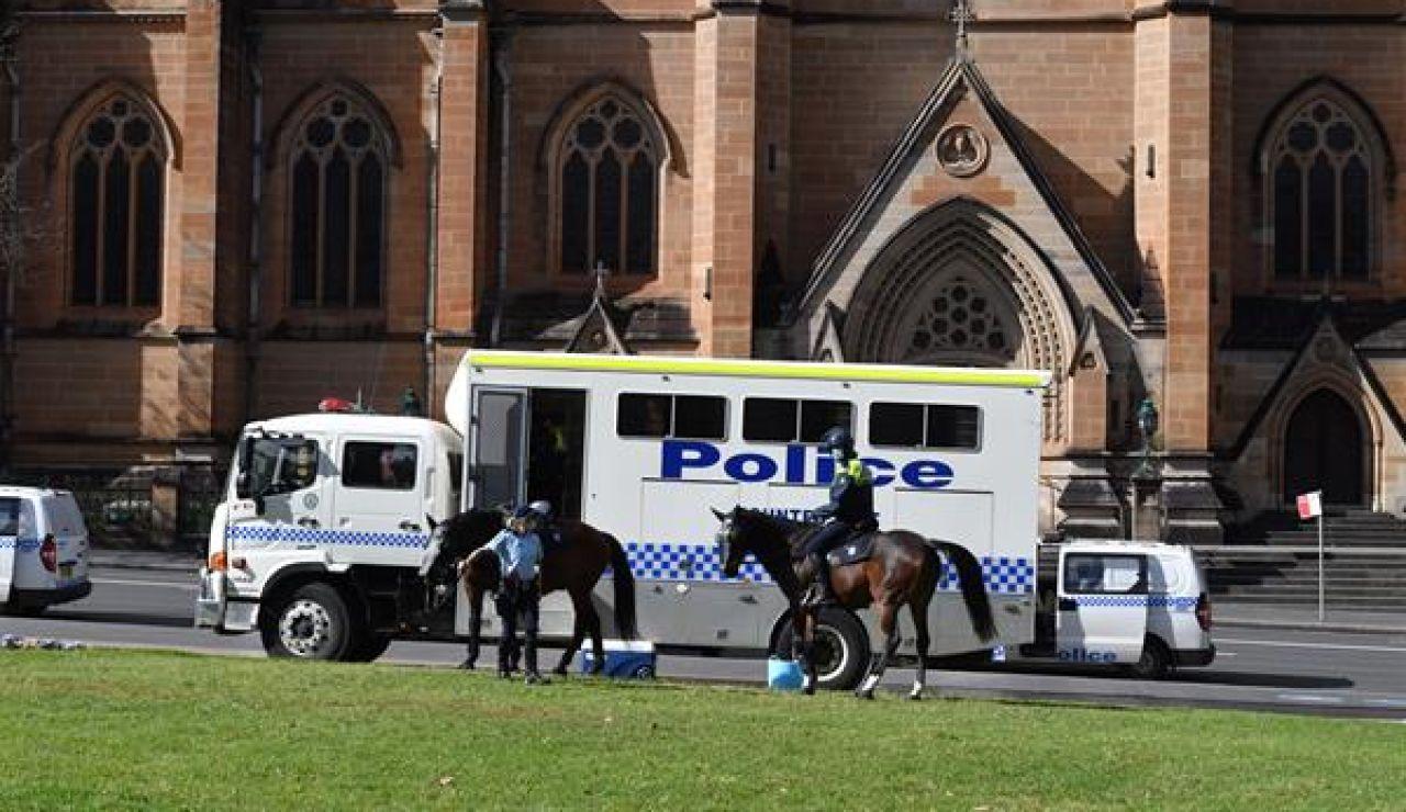 Efectivos de policía en Brisbane