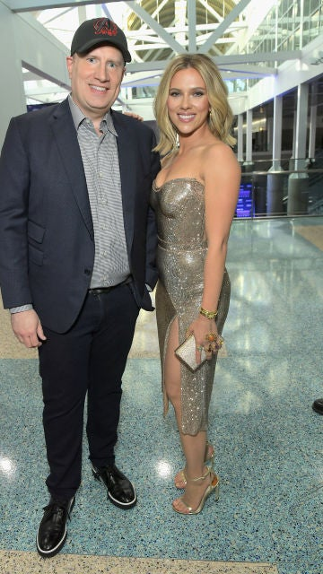 Kevin Feige y Scarlett Johansson