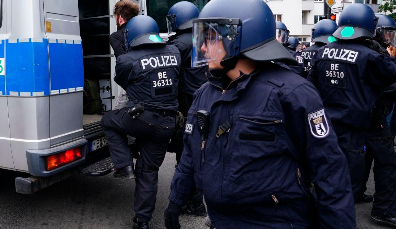 Protestas en Berlín por las restricciones de coronavirus