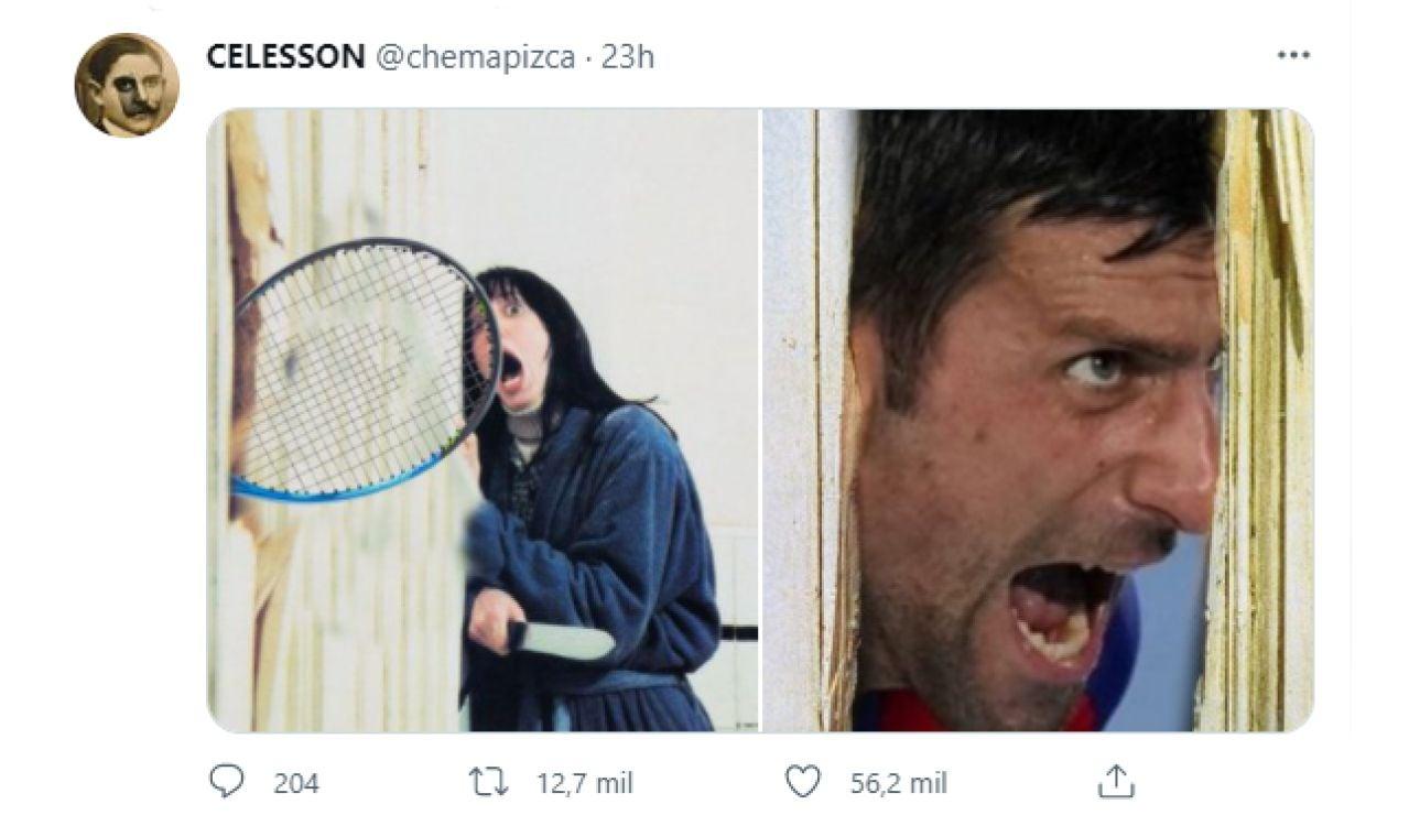 Los mejores memes del tremendo cabreo de Djokovic