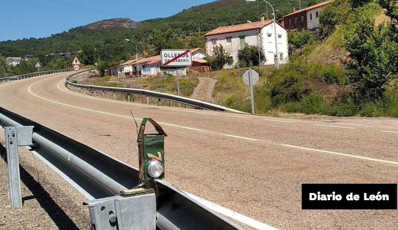 """Olleros de Sabero, el pueblo de León que instala un """"radar casero"""" en la carretera"""