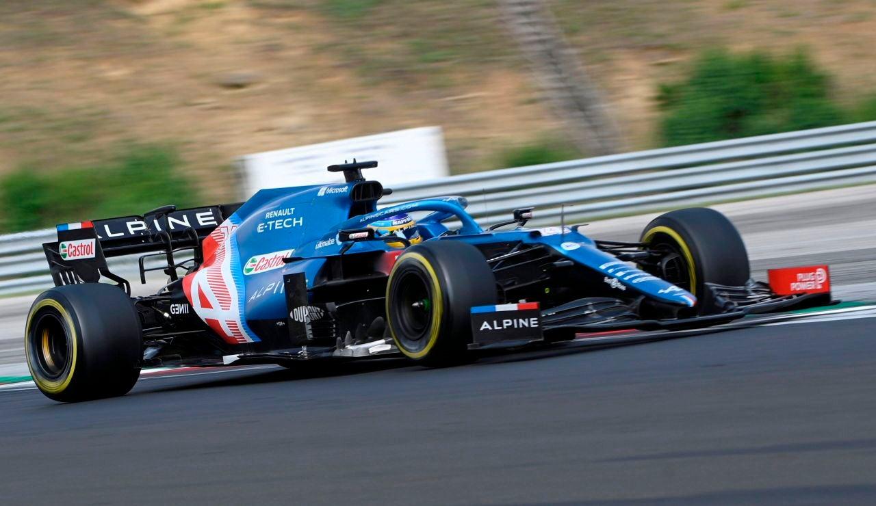Fernando Alonso durante la carrera del Gran Premio de Hungría