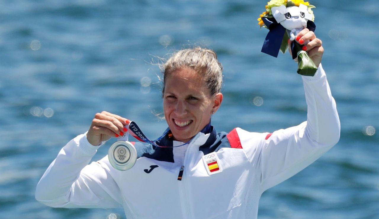 Teresa Portela logra una histórica medalla de plata en el K2 100