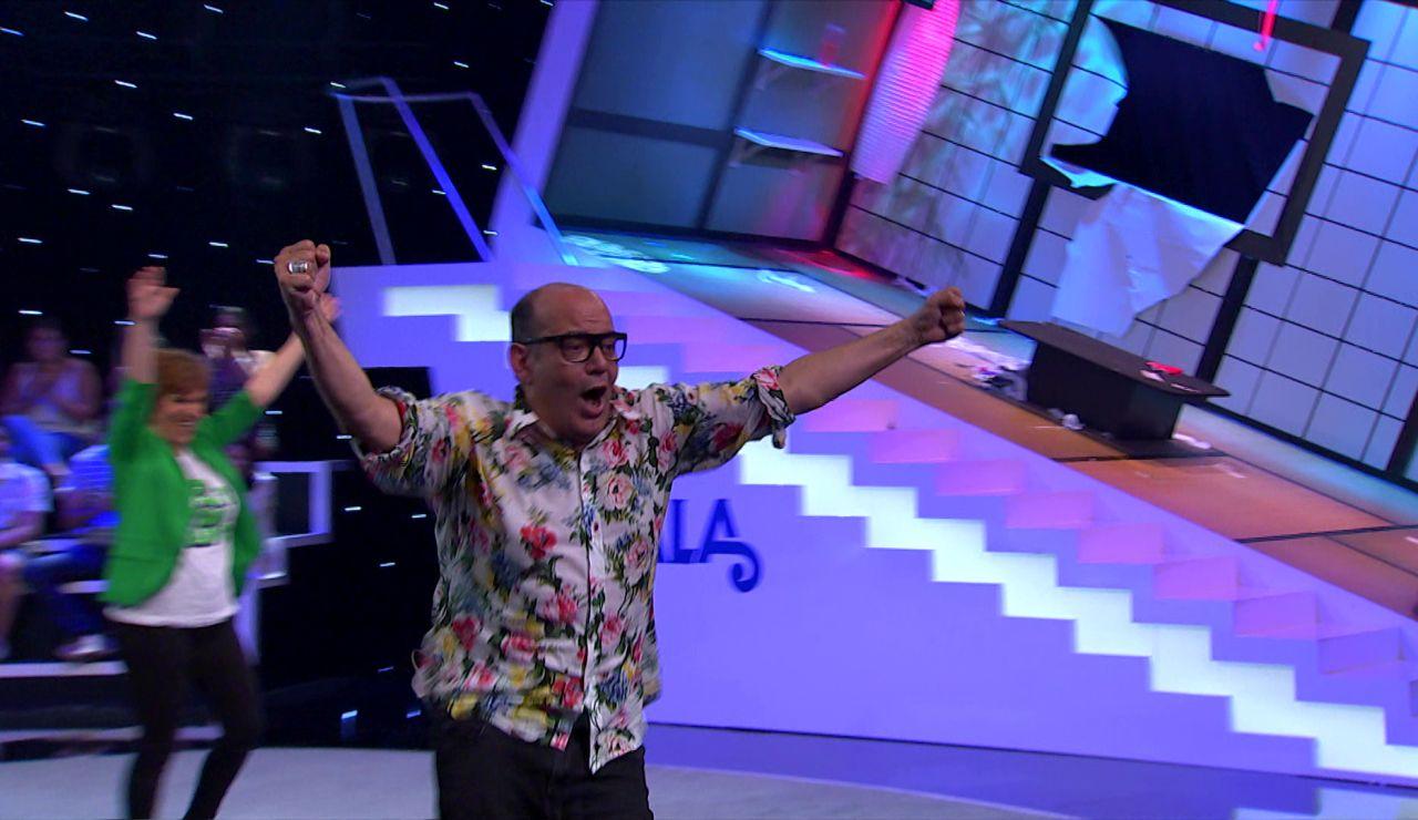 La euforia de José Corbacho tras coronarse el ganador de 'Me Resbala'