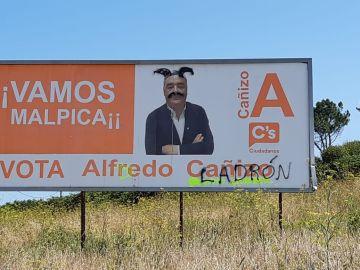 Aparecen nuevas pintadas con amenazas al que era concejal de Ciudadanos de Malpica, en A Coruña
