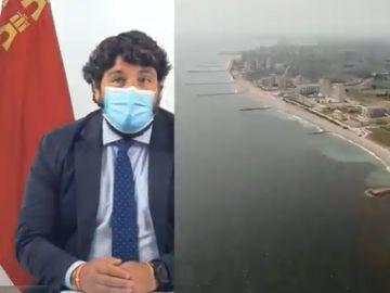 Fernando López-Miras, presidente de la Región de Murcia, sobre la situación en el Mar Menor