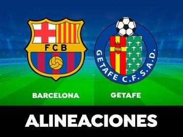 Alineación del Barcelona contra el Getafe en el partido de hoy de LaLiga
