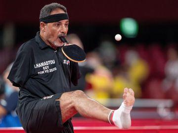 Ibrahim Hamadtou, la sensación de los Paralímpicos que juega al tenis de mesa con la boca