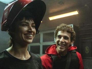Úrsula Corberó y Miguel Herrán en 'La casa de papel'