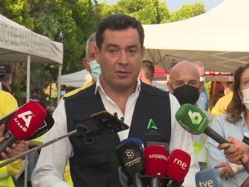 """Juanma Moreno, sobre el incendio de Sierra Bermeja: """"Si el pirocúmulo se derrumba provocaría una lluvia de fuego"""""""