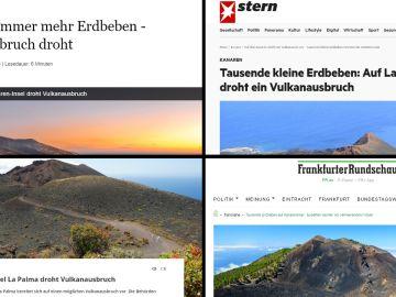 La posible erupción del volcán en La Palma lidera las búsquedas de Google en los medios alemanes
