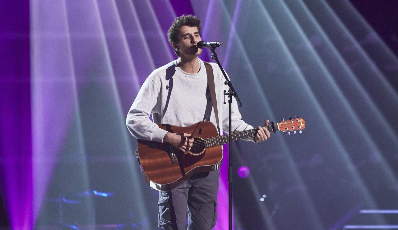 Carlos Galí canta 'Guantanamera' en las Audiciones a ciegas de 'La Voz'