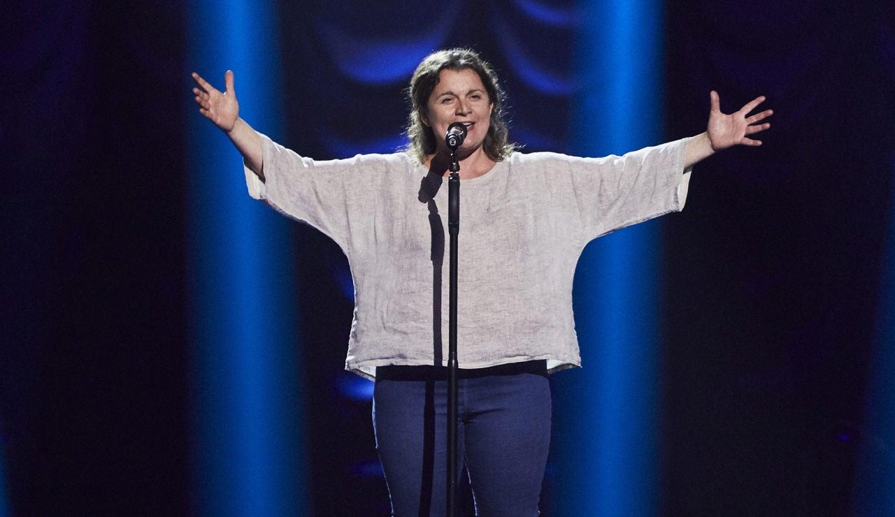 Inés Moraleda canta 'Con te partirò' en las Audiciones a ciegas de 'La Voz'