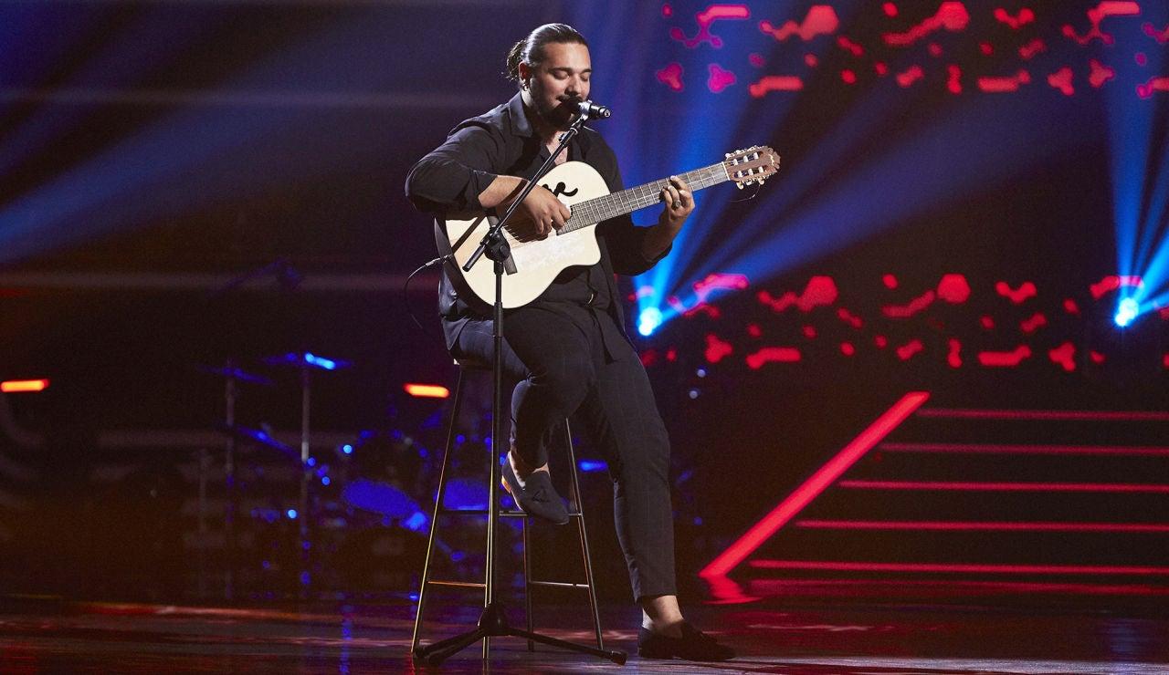 Ezequiel Montoya canta 'Te conozco bien' en las Audiciones a ciegas de 'La Voz'