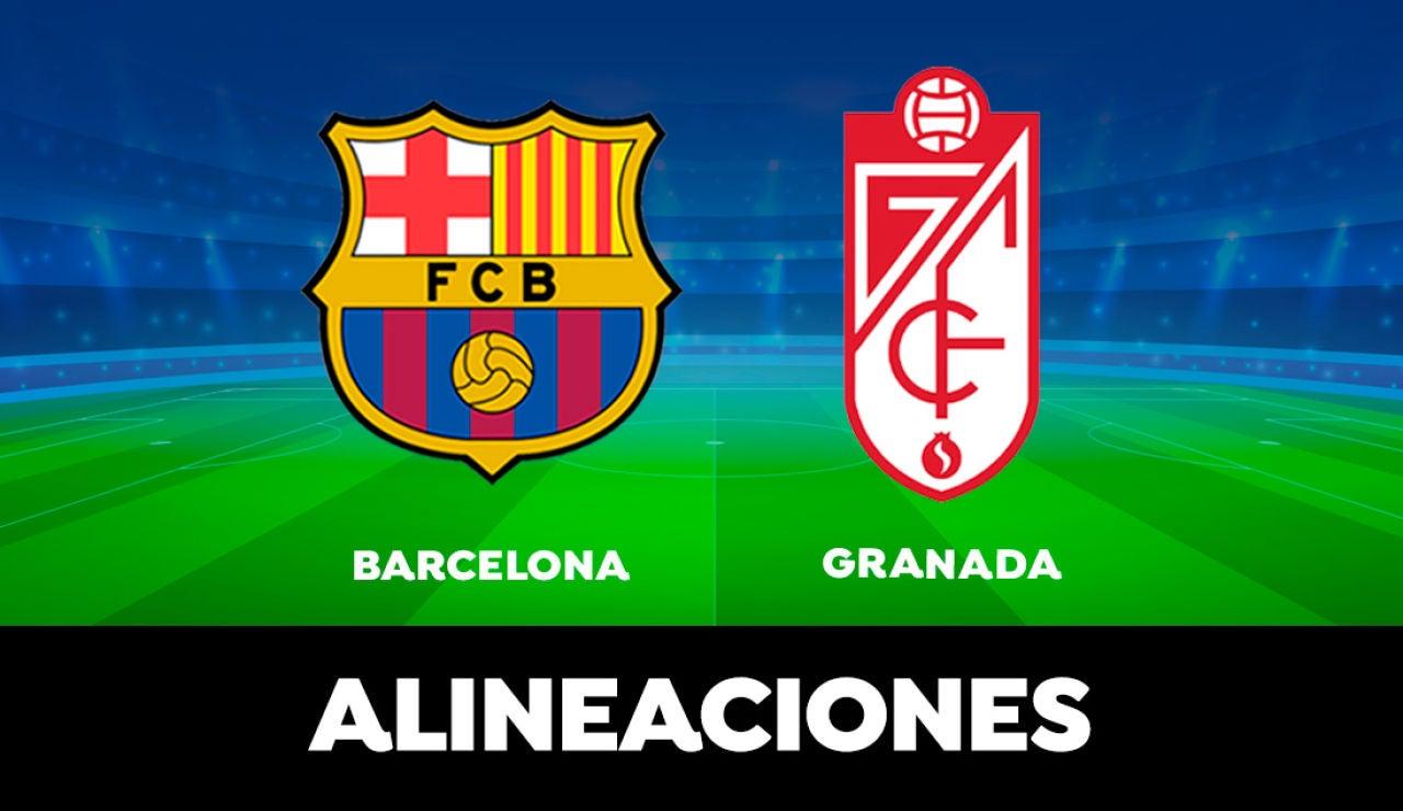 Alineación del Barcelona contra el Granada en el partido de hoy de Liga Santander