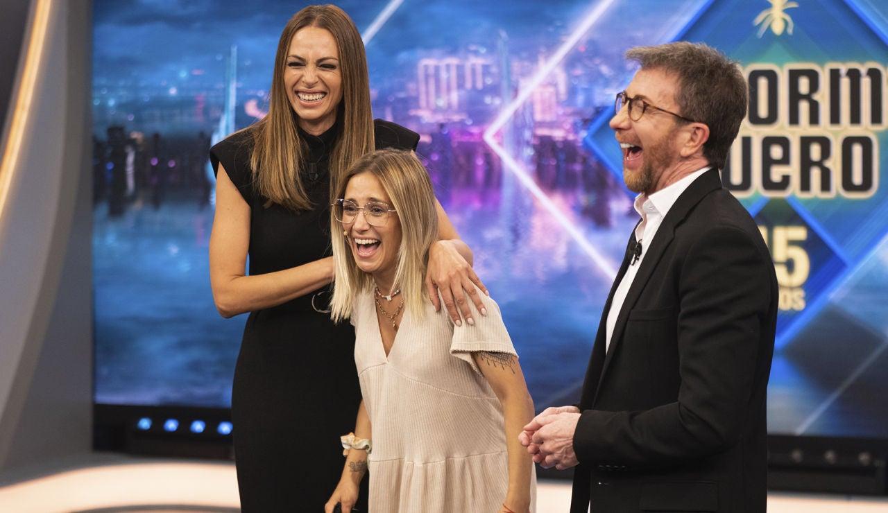 """Eva González y Pablo Motos sorprenden a Marta Macías durante 'El Hormiguero 3.0': """"Estás en las Audiciones a ciegas de 'La Voz'"""""""