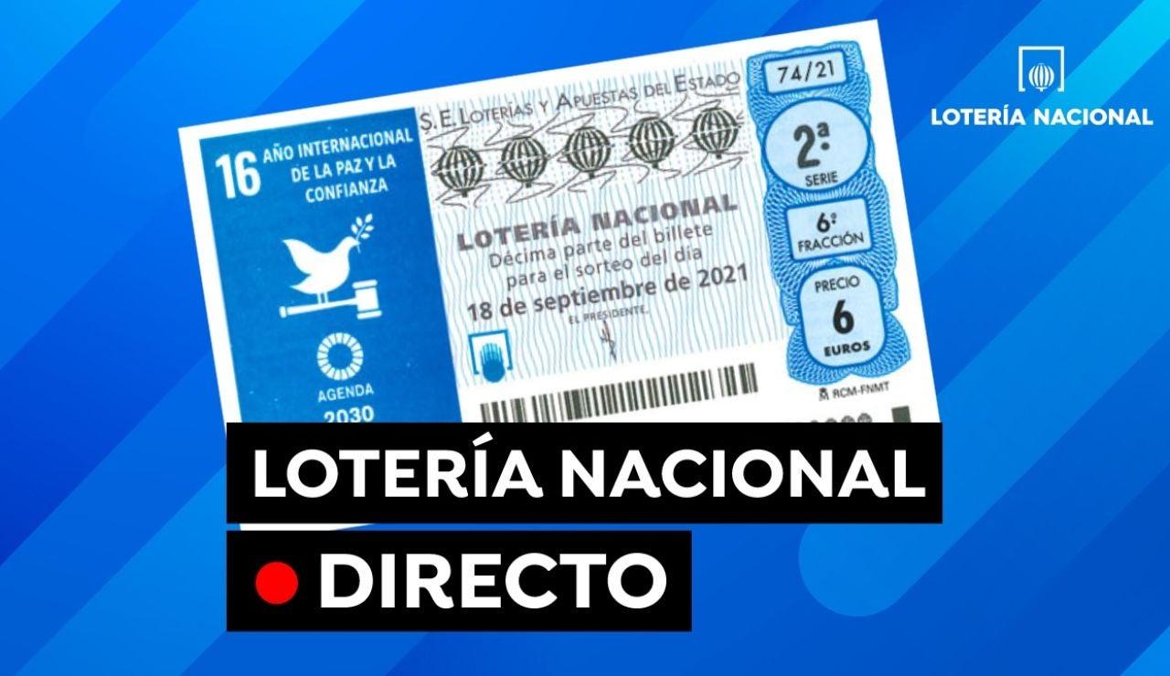 Sorteo Lotería Nacional hoy: Comprobar resultado sábado 18 de septiembre, en directo