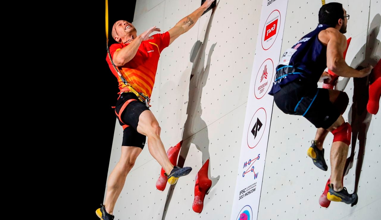 Erik Noya, subcampeón del mundo en escalada de velocidad