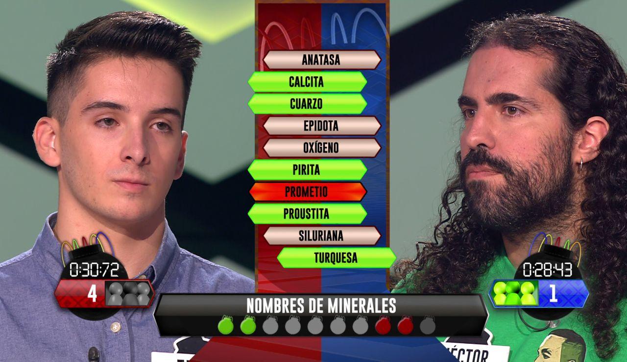 Héctor se tiene que fajar para remontar a Jaume en la 'Bomba estratégica'