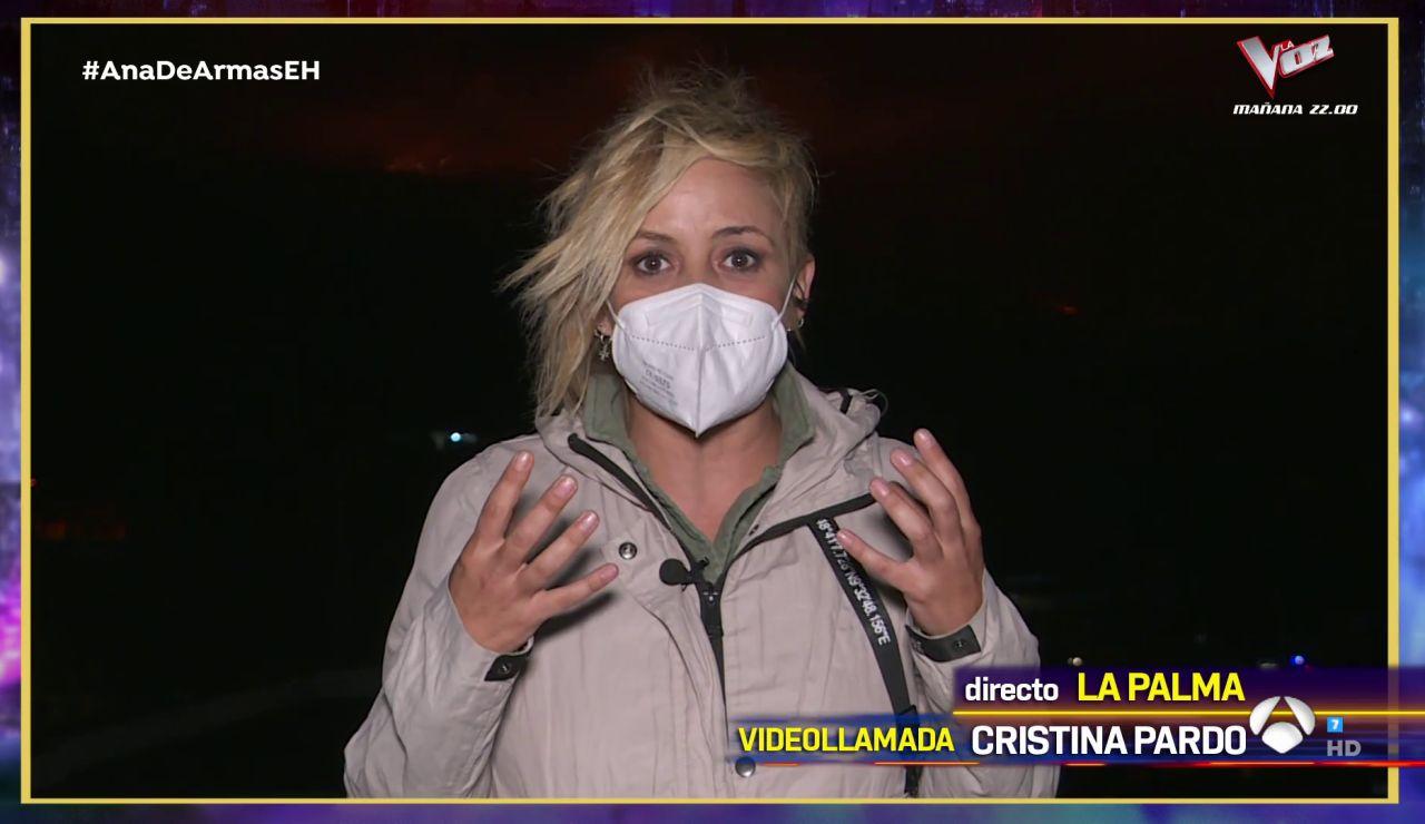 """Cristina Pardo, emocionada en directo desde La Palma: """"Es muy importante para la gente quitarse la incertidumbre"""""""