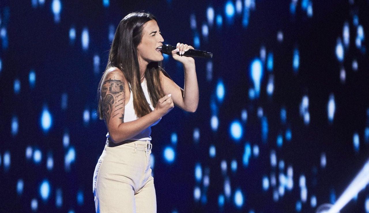 Marina Jiménez canta 'La mudanza' en las Audiciones a ciegas de 'La Voz'