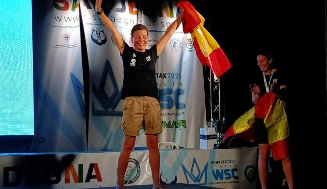 Malen Sart, la primera española que se proclama campeona del mundo de pesca submarina
