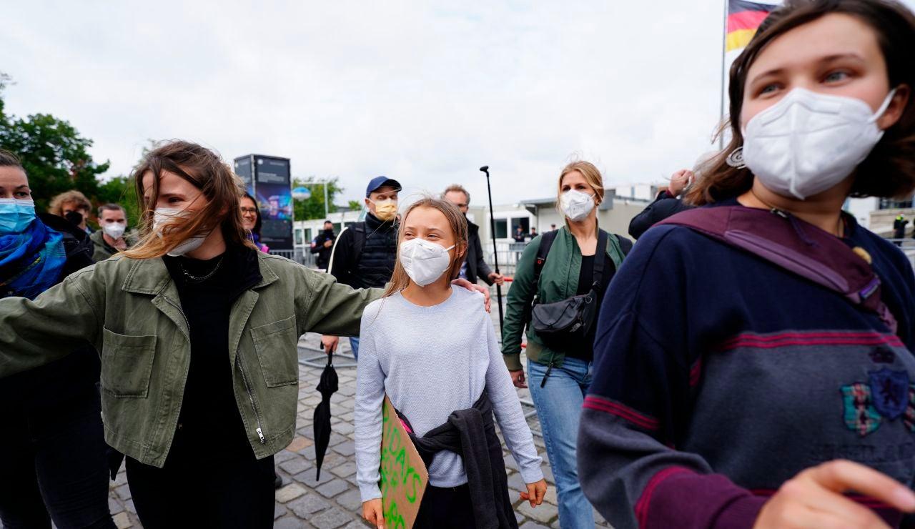 Greta Thunberg, en Berlín para presionar sobre la emergencia climática
