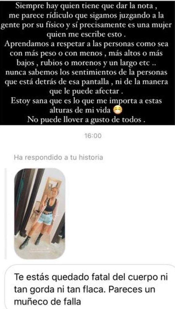 Rocío Flores responde a las críticas sobre su nuevo físico