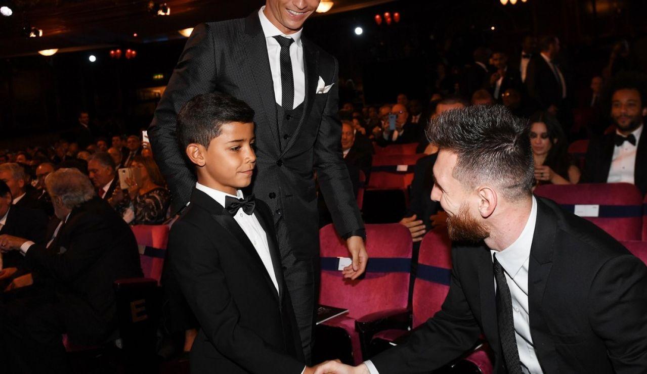 """Cristiano Ronaldo Jr, al conocer a Leo Messi: """"No es ese, es muy bajito"""""""