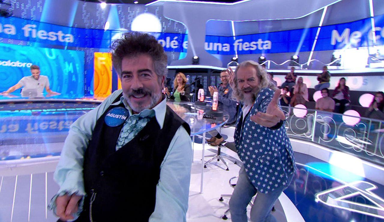 ¡Duelo de bailarines en 'La Pista'! Agustín Jiménez y Antonio Albella se 'cuelan' en la fiesta de Mecano