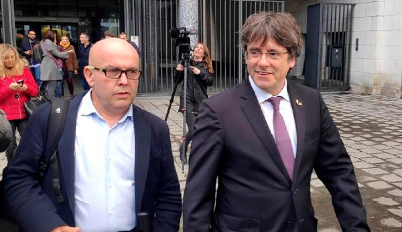 Carles Puigdemont y Gonzalo Boye