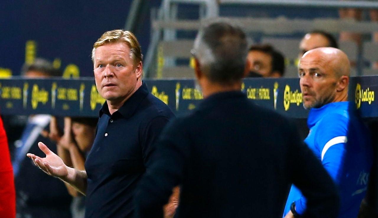 """Ronald Koeman, tras el empate ante el Cádiz: """"Hay que ser realistas y ver la plantilla que tenemos"""""""