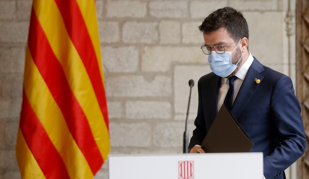 El presidente de la Generalitat de Cataluña, Pere Aragonés