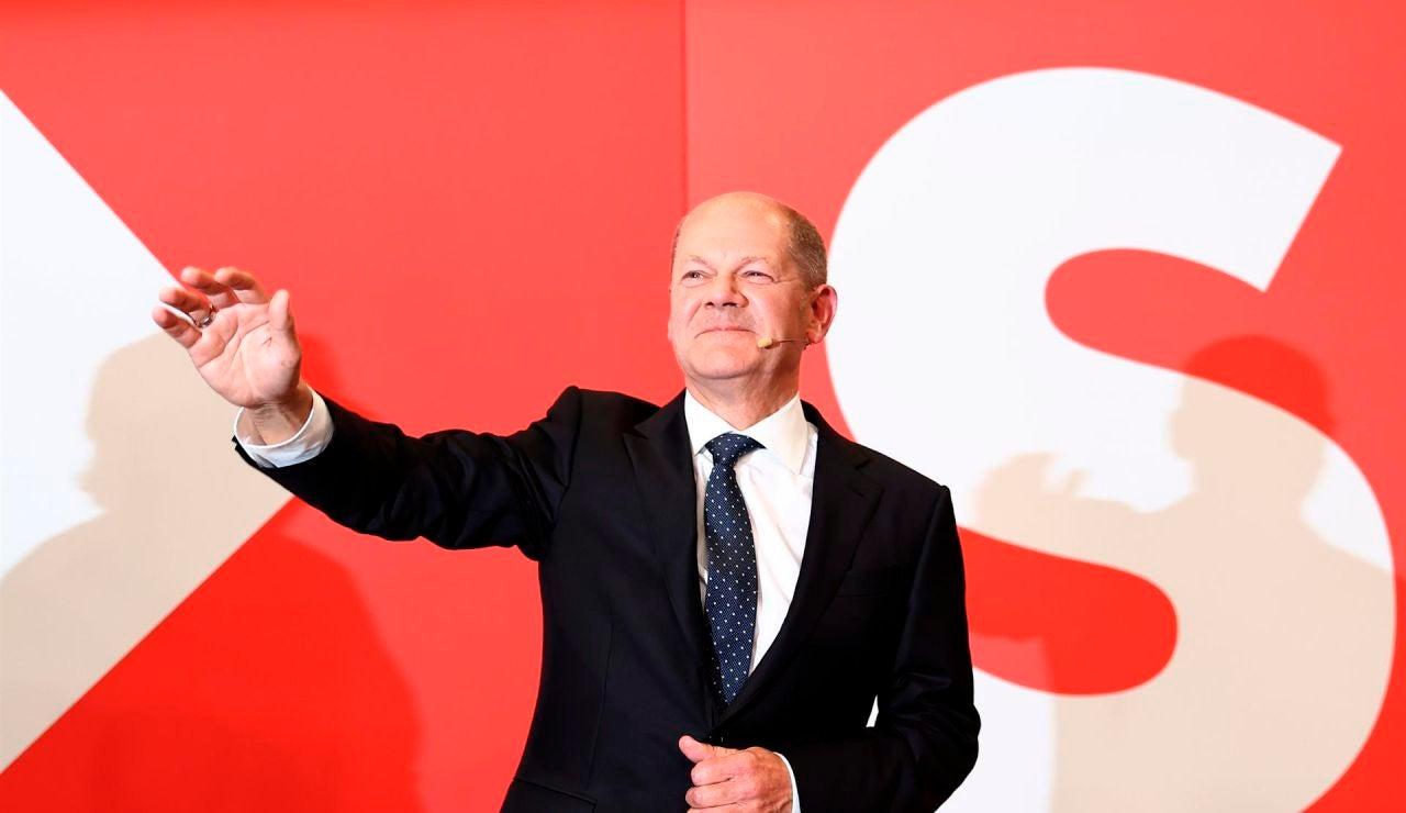 Olaf Scholz, tras ganar las elecciones en Alemania