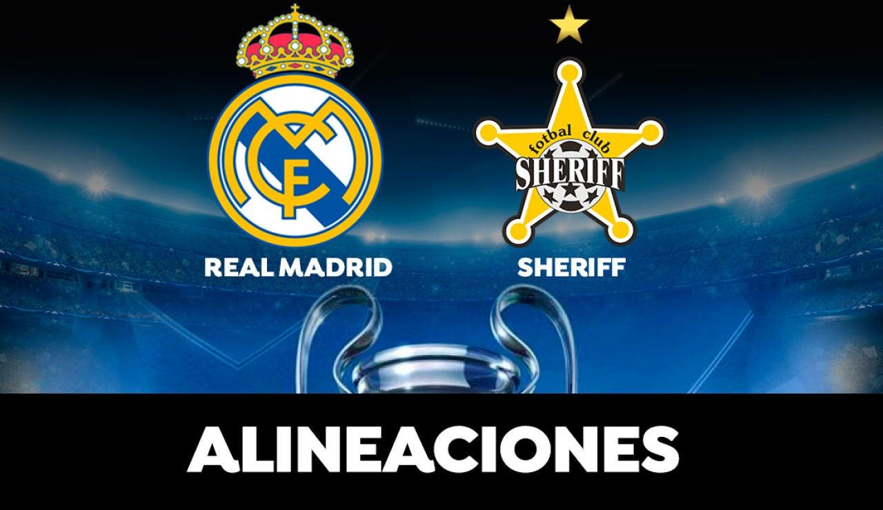 Alineación del Real Madrid hoy contra el Sheriff Tiraspol en el partido de la Champions League