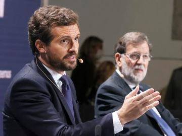 """Mariano Rajoy, convencido de que Pablo Casado ganará las elecciones para """"arreglar lo que otros desarreglaron"""""""